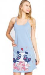 Dámska nočná košeľa Vienetta Secret Panda ramienka
