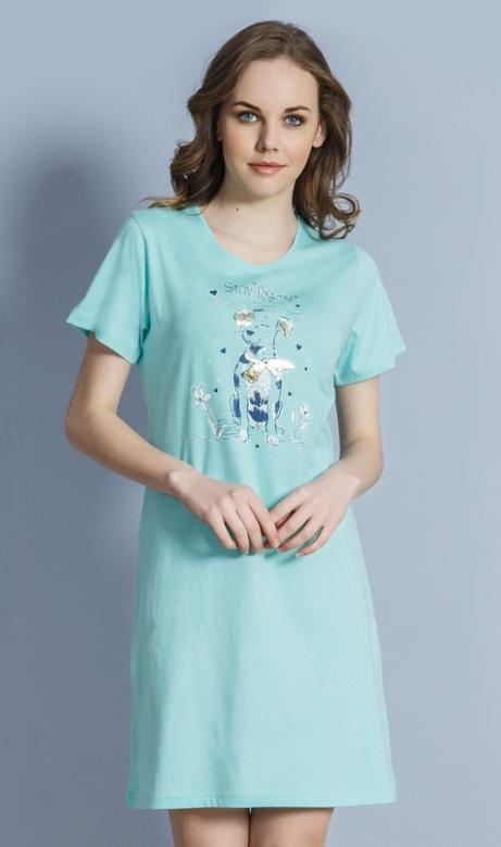 4f010f480fed Dámska nočná košeľa Vienetta Secret Pes s mašľou - Vienetta Secret ...