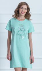 Dámska nočná košeľa Vienetta Secret Sova a hviezdy