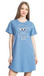 Dámska nočná košeľa Vienetta Secret Sova s ??čiapkou