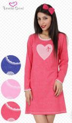 Dámska nočná košeľa Vienetta Secret Sylva modrá