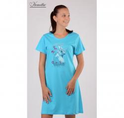 Dámska nočná košeľa Vienetta Secret Zajac s okuliarmi výpredaj