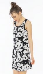 Dámska noční košile na ramínce Vienetta Secret Pandy
