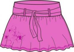 Dámska sukňa O'STYLE 6257 fialová
