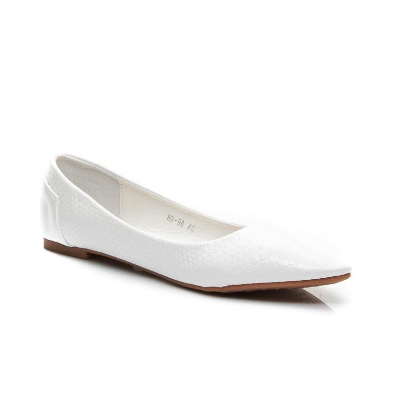 Dámske biele balerínky Sixth Sens 89-98W - (Tipy na Valentína) fd7da37b72f