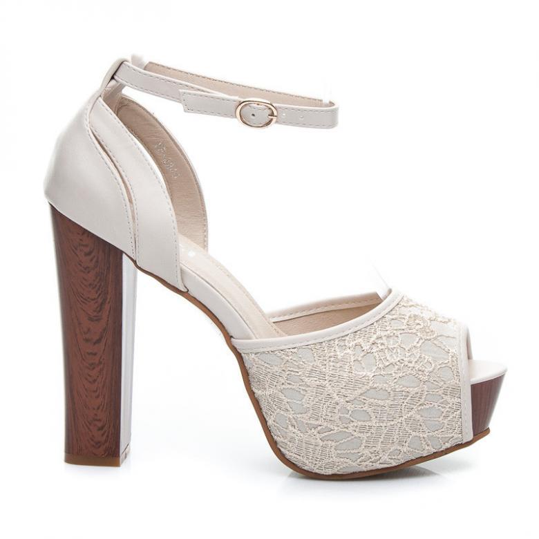 711511b5b9d87 Dámske biele čipkované sandále IDEAL 2240OW - Enrico Coveri (Tipy na ...