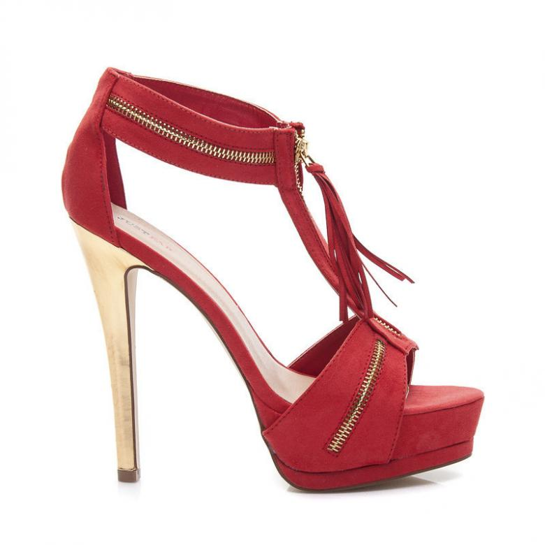 9b048f94aeac Otázky k produktu Dámske červené sandále Justfab 9089R - (Tipy na ...