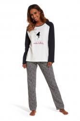 Dámske dlhé pyžamo Cornette 145/136 Lullaby