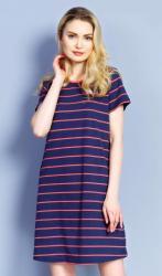 Dámske domáce šaty s krátkym rukávom Vienetta Secret Prúžok