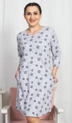 Dámske domáce šaty s trojčtvrtečním rukávom Vienetta Secret Pampeliška