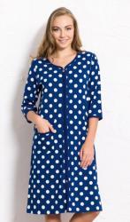 Dámske domáce šaty s trojštvrťovým rukávom Vienetta Secret Bodky