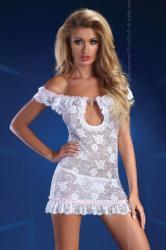 Dámske erotické šaty Livia Corsetti Mija biele