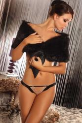 Dámske erotické tangá Livia Corsetti Agave black string