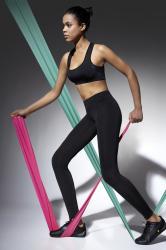Dámske fitness legíny BasBleu Activelle black carbon