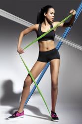 Dámske fitness šortky BasBleu Forcefit 30 čierne