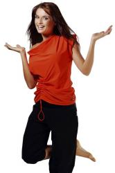 Dámske fitness tričko Winner Atena orange