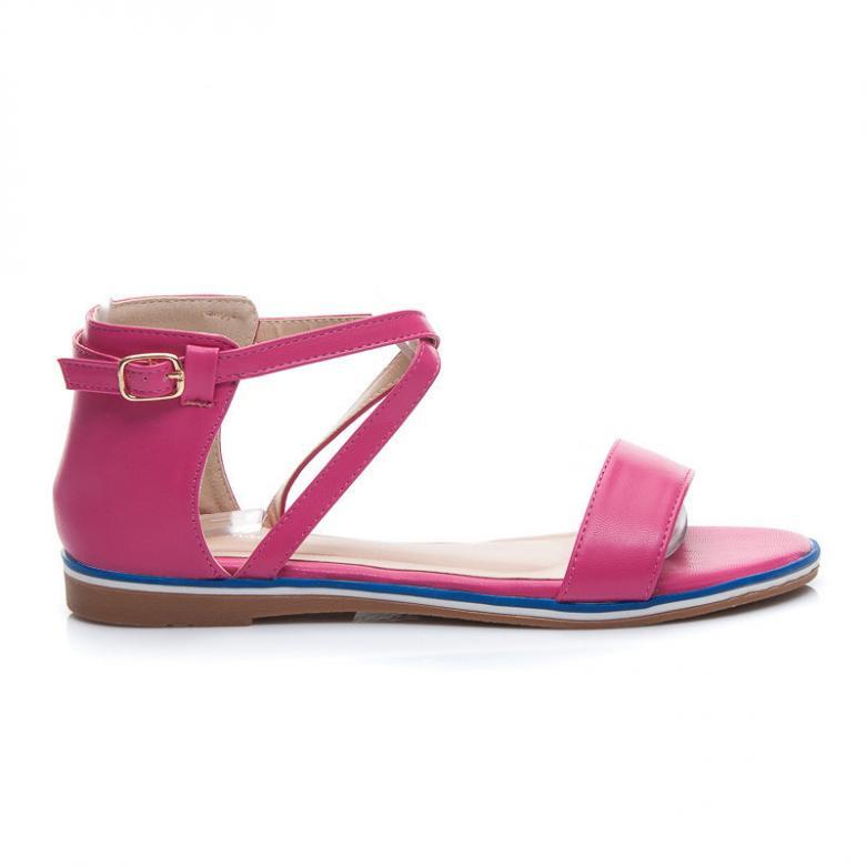 ac6797cabce1 Dámske fuchsiovej sandále Super Mode 50194F - (Tipy na Valentína)