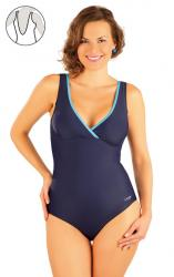 Dámske jednodielne plavky bez výstuže Litex 88347 modré