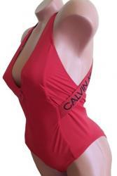 Dámske jednodílne plavky Calvin Klein KW01000 červená