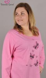 Dámske nadmerné pyžamo Vienetta Secret Motýle na lúke