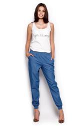 Dámske nohavice FIGL M307 modré