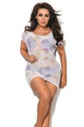 Dámske plážové šaty AVA SP1 bílé