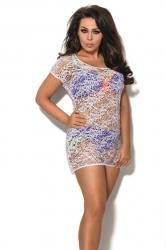 Dámske plážové šaty AVA SP2 plus biele
