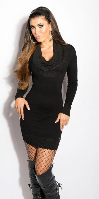 Dámske pletené šaty Koucla in-sat137bl - Fashion h. (Akcie a zľavy) 6fde9e6182f