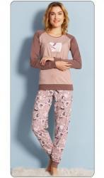 Dámske pyžamo dlhé Vienetta Secret Ľadové medvede