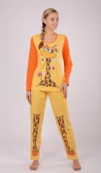 Dámske pyžamo dlhé Vienetta Secret Veľká žirafa