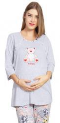 Dámske pyžamo dlouhé mateřské Vienetta Secret Méďa Happy