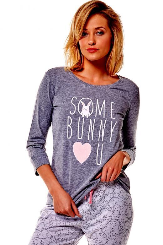 082074ccbbcd Dámske pyžamo Esotiq 36163 Mia 90x graphite - ESOTIQ (Dámske pyžamá ...