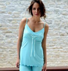Dámske pyžamo FOLLIE Chloe Moya tyrkys