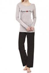Dámske pyžamo Guess O74X03 šedé