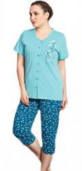 Dámske pyžamo kapri Vienetta Secret Flowers