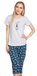 Dámske pyžamo kapri Vienetta Secret Méďa a hviezdy