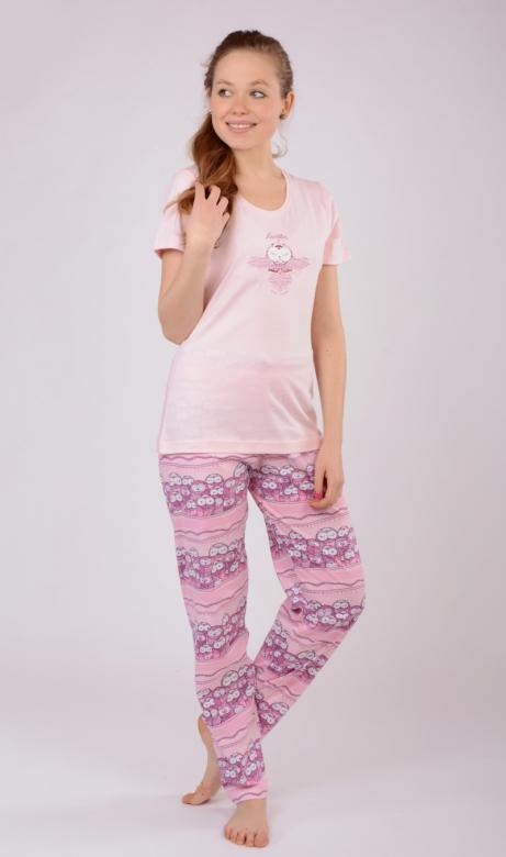 36c4f8e1abc9 Dámske pyžamo s krátkym rukávom Vienetta Secret Malé sovy - Vienetta ...