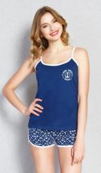 Dámske pyžamo šortky na ramienka Vienetta Secret Oceán