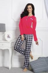 Dámske pyžamo TARO 1195 Gizela red-grey