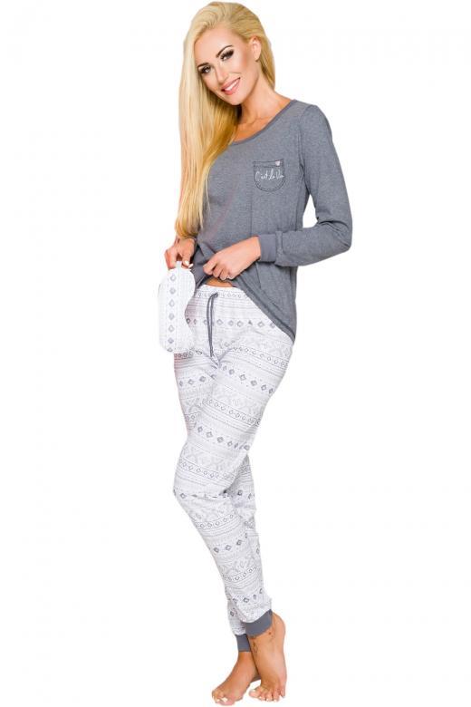 d3ea680e8e17 Dámske pyžamo TARO Nora 2124 sivé - TARO (Dámske pyžamá - Pyžamá ...