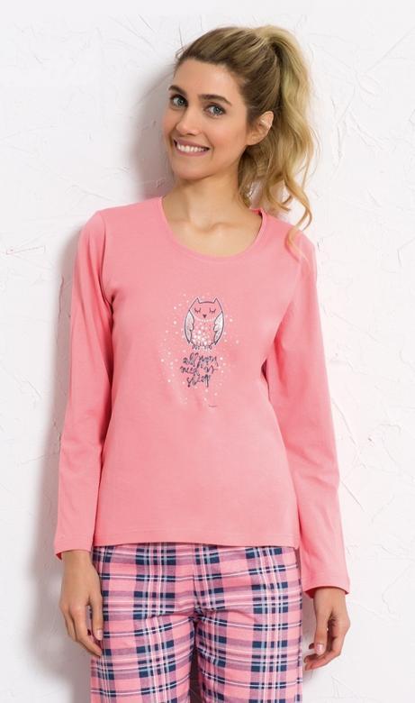 187b5517c65e Dámske pyžamo Vienetta Secret Sova Sleep - Vienetta Secret (Dámske ...