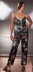 Dámske saténové pyžamo na ramienka Terykon Madame