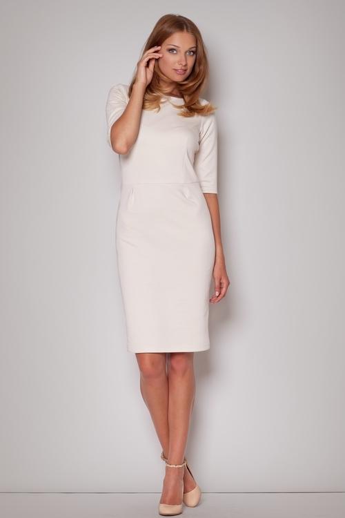 f0363196e Dámske šaty Figl M202 beige - FIGL (Šaty, sukne - Dámske oblečenie)