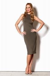 Dámske šaty FIGL M263 olivové