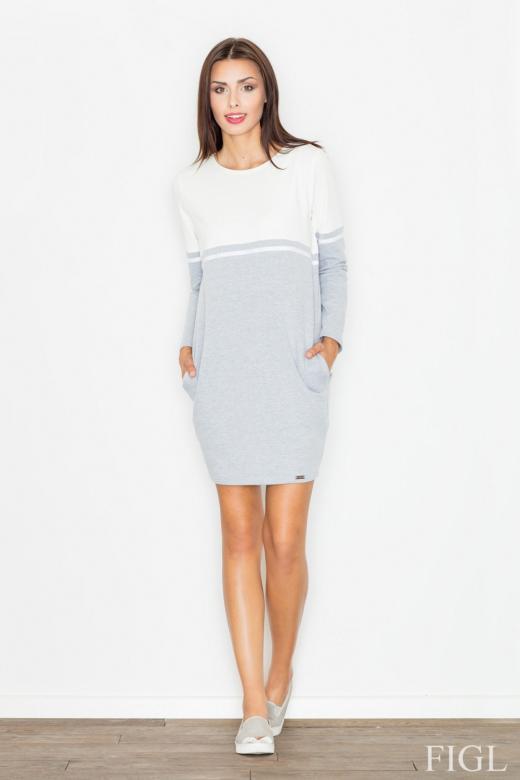 Dámske šaty FIGL M510 grey - FIGL (Šaty dea5b4497ef