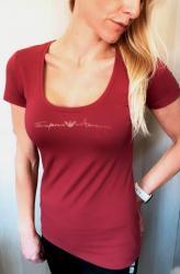Dámske tričko Emporio Armani 163377 1P233 vínová