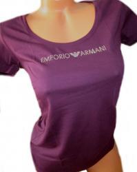 Dámske tričko Emporio Armani 163377 9P263 fialové