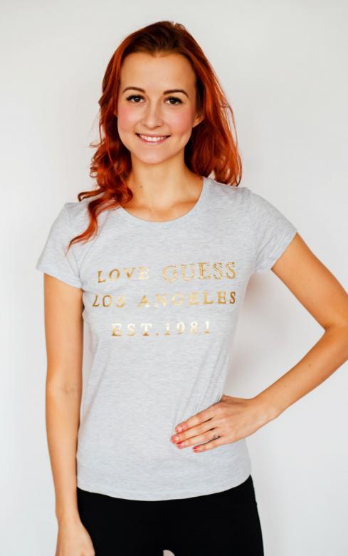 d8d4f195029b Dámske tričko Guess O91I00 svetlo šedej - GUESS (Tričká