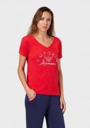Dámske triko Emporio Armani 164334 0P291 červená