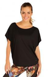Dámske voľné tričko Litex 51187 čierne